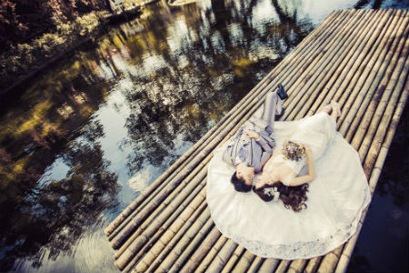 Pre-Wedding Photography with 2 Dresses & 1 Suit (In-Studio & Outdoor), Makeup & Hair, Album