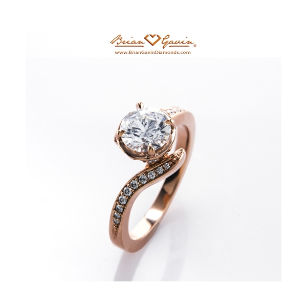 Brian Gavin Diamonds - Ring & Jewellery - 810-12 18K Rose Gold Engagement Ring