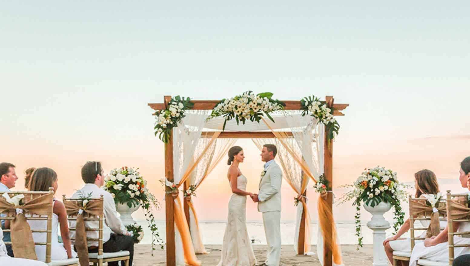 Ma Joly Sunset Beach Wedding Venue (30 - 100 Pax) Inclusive of Photograph & Videography + Makeup & Hair + Decorations