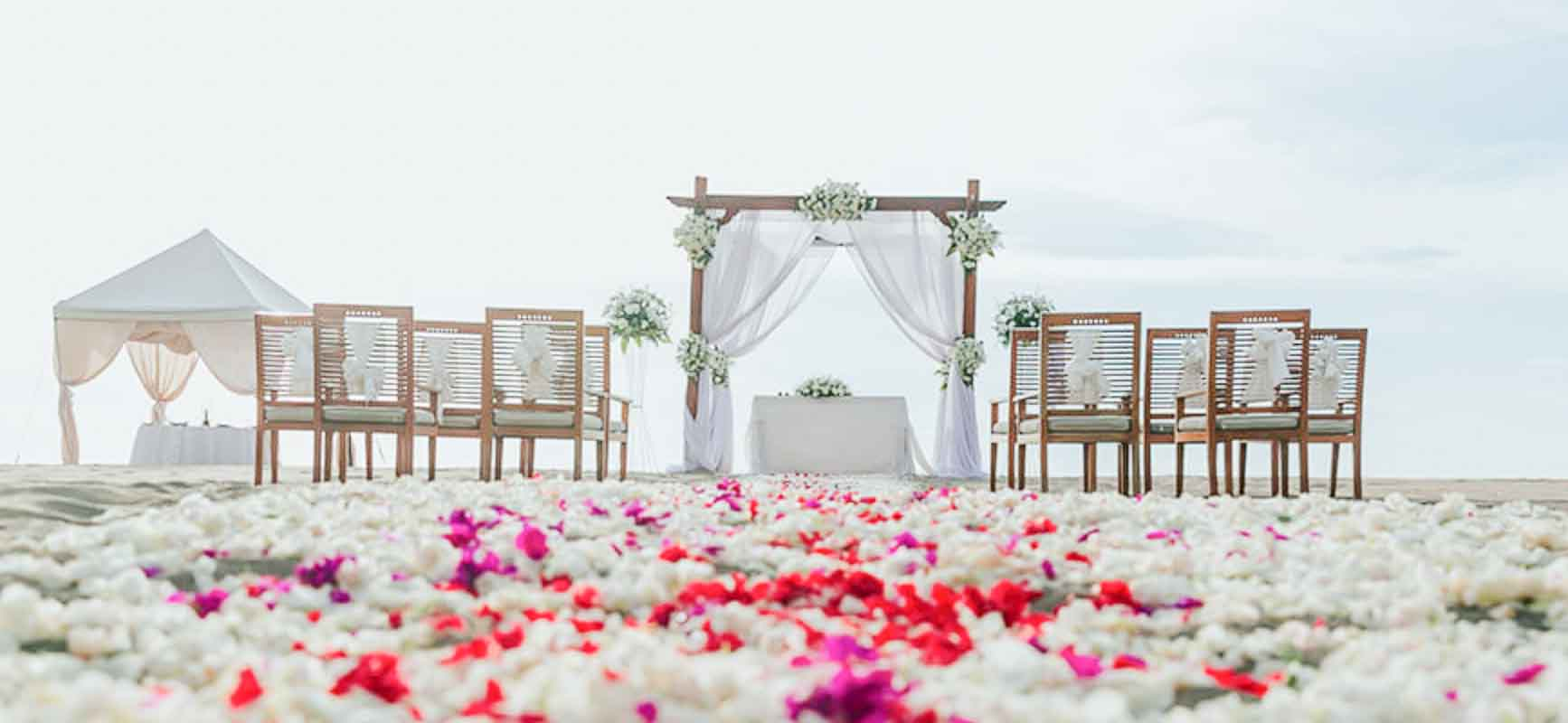 Ma Joly Sunset Beach Wedding Venue (30 - 100 Pax) Inclusive of Photograph & Videography + Makeup & Hair + Decorations-8