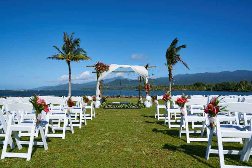 Taumeasina Island Resort Wedding Package