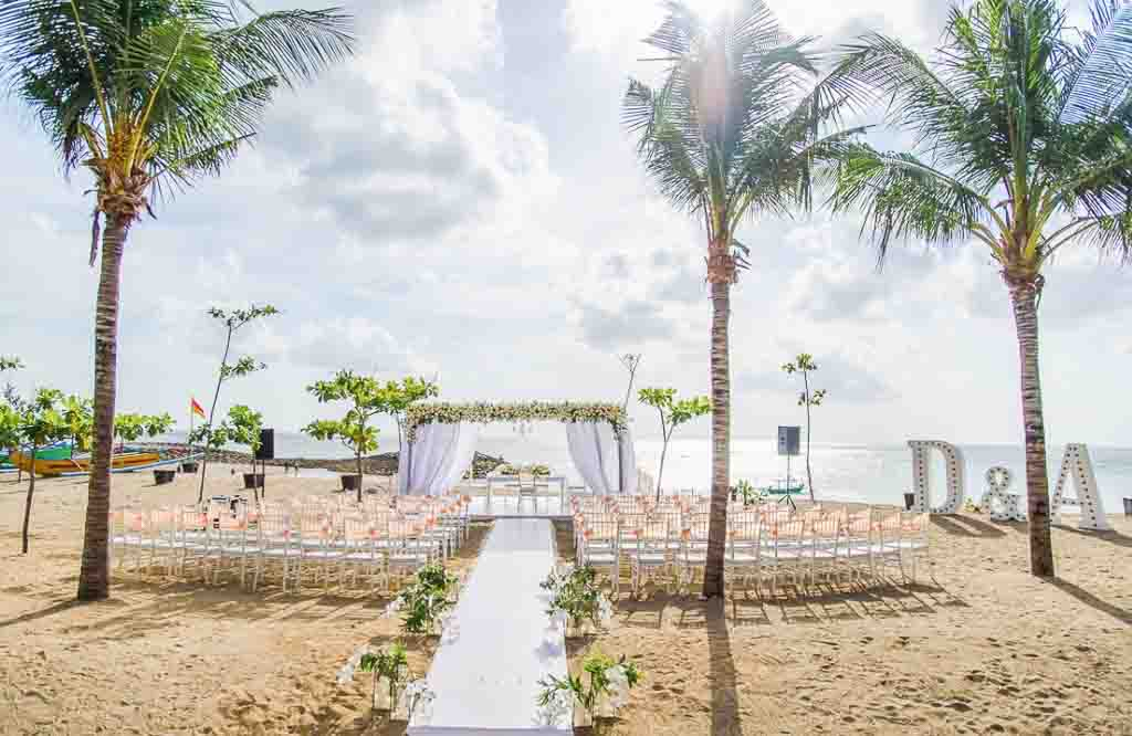 The Anvaya Bali Resort On Beach Venue (20-100 Pax) Inclusive of Photograph & Videography + Makeup & Hair + Decorations