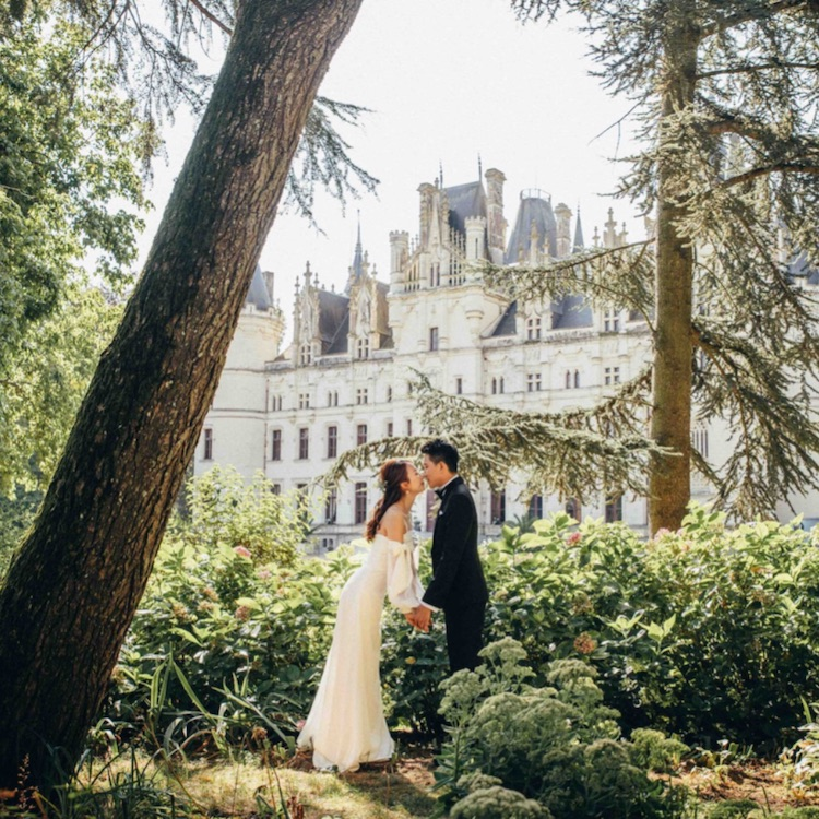 """Just Two"" Garden Gazebo Wedding Package With One Night Stay at Chateau Challain -10"