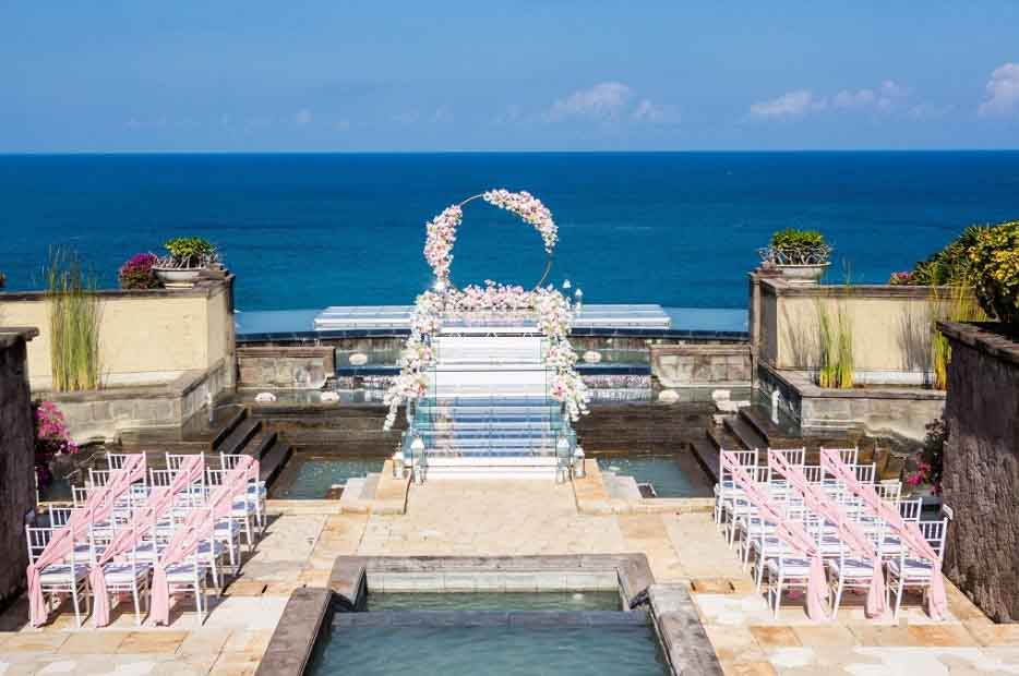 On Water Wedding at Hilton Bali Resort