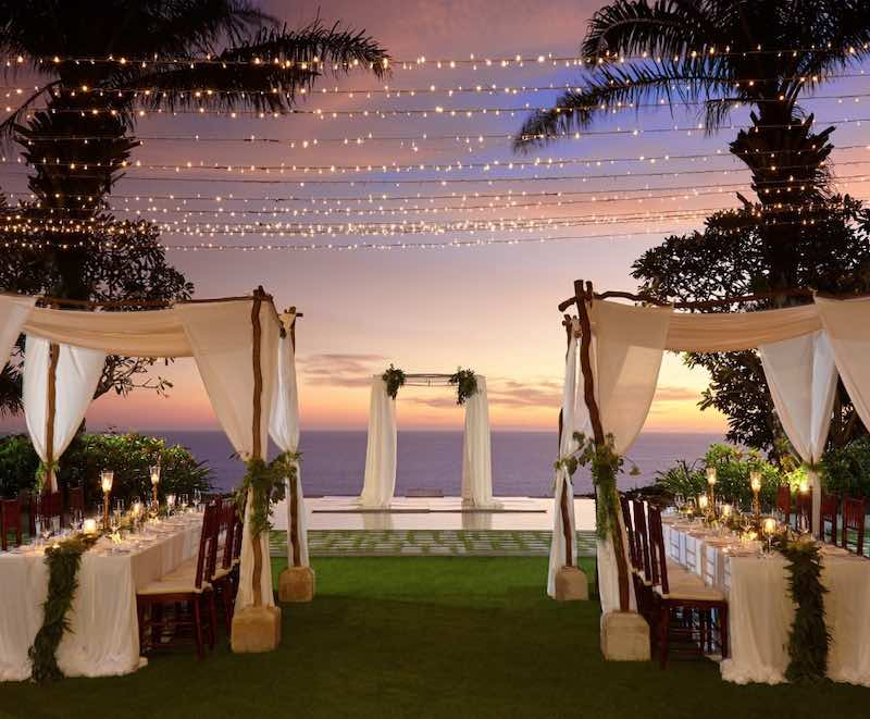 All-Inclusive On Water Wedding Ceremony at Tirtha Uluwatu
