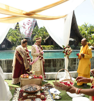 Bali Wedding with Indian Hindu Ceremony
